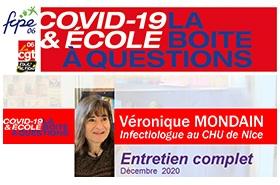 COVID 19 : Interview de Véronique Mondain par la CGT Educ 06 et la FCPE 06