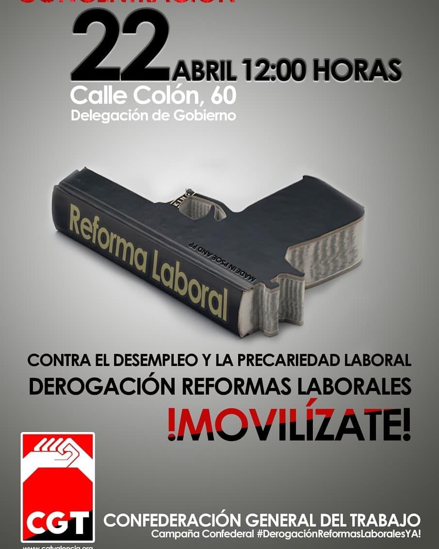 Contra el desempleo y la precariedad, por la derogación de las reformas laborales