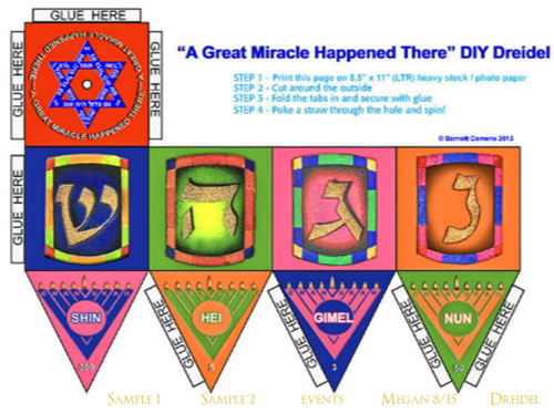 Make Your Own Dreidel Crafts Jewish Kids