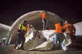 IsraAID volunteers helping the URBE team