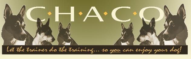 CHACO Dog Training
