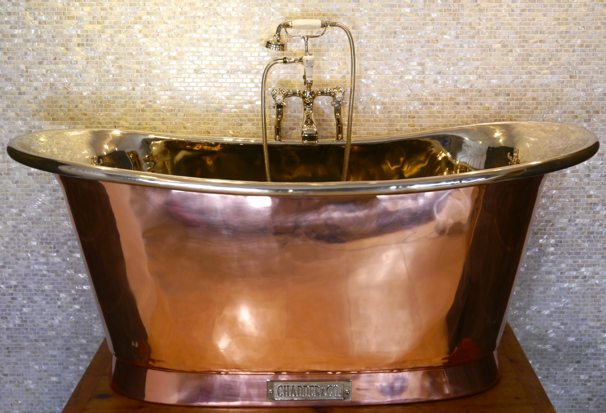 Royal Copper Bath With Nickel Interior Chadder Amp Co