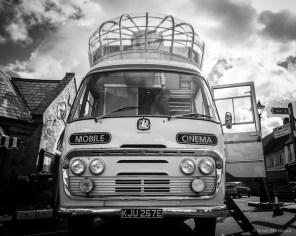 Vintage Mobile Cinema at Chagford Film Festival (© Simon Blackbourn)