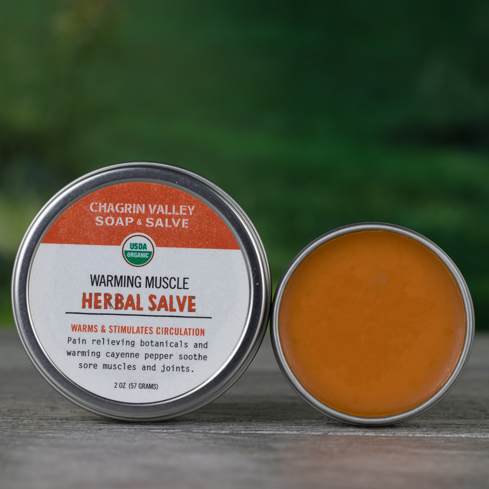Organic Salve Warming Sore Muscle Chagrin Valley Soap