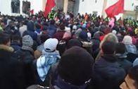 التغطية مستمرة لاحتجاجات الرغيف الأسود بمدينة جرادة