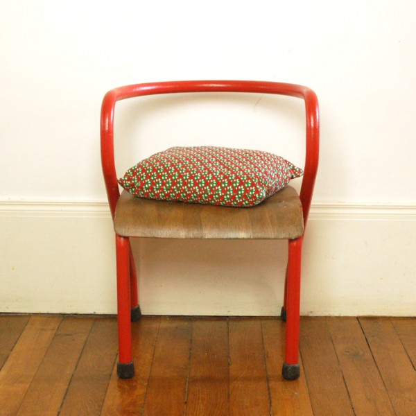 Chaise Hitier Rouge Vintage Chahut Bahut