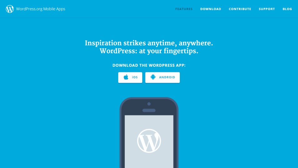 ngeblog dari wordpress andorid app