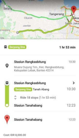 Jadwal KRL Rangkasbitung - Tanahabang