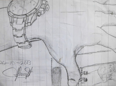 Gambar-Sketsa-Tangan-Orang-Jam-Tangan