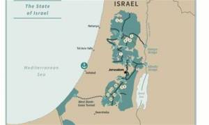 US RELEASES MAP OF ISRAEL/PALESTINE UNDER PEACE DEAL