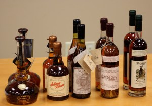 Willett bourbons and one rye whiskey