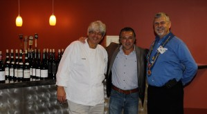 """Chef Michael """"Funky"""" Forgus, Rudy Basile, and Vice Echanson Mike Monnin"""