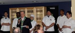 Bailli George Elliott with Summit culinary staff