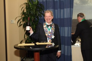 Chargé de Presse Provincial Midwest J.T. Mayer retiring as local officer also received bottle of Kosta Brown