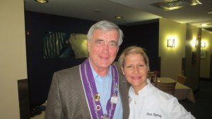Chevalier Jim Hemesath and Rue Dumaine Executive Chef Anne Kearny