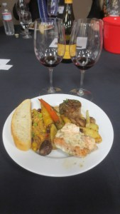 Buffet food selections with Rex Hill wines