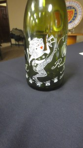 """Floozie"" character on bottle"