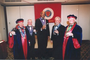 Mondial Elevation: Sénécshal Robert Epstein, George White, Edgar Smith Jr., Robert Hasl, Bailli Peter Hainline
