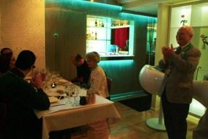 Welcoming guests: Richard Cross, Jill Cross, Peter Hainline