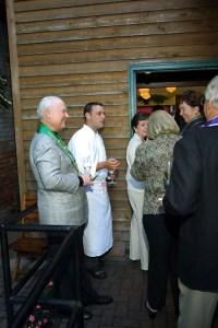 Peter Hainline, Chef-Owner David Falk, Mary Hainline, Joan Crowe, Marilyn Osborn, Tom Burdin