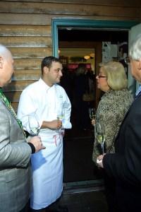 Bailli Peter Hainline, Chef-Owner David Falk, Joan Crowe, Tom Burdin