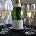 Bottle and flutes of Champagne