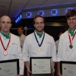 Place winners Jason Buckreis, Andrew Mersmann, and Derek Bush