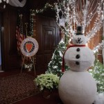 Seasonal decorations at Queen City Club