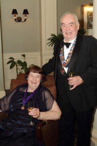 Dame Carolyn Eckerle and Vice Conseiller Gastronomique Honoraire Bill Eckerle
