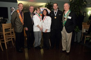 Officers and medalists with winner Chef Jeff Moore (second from right)
