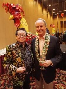 Owner Mike Wong, Bailli George Elliott