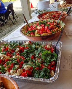 Salads made by members