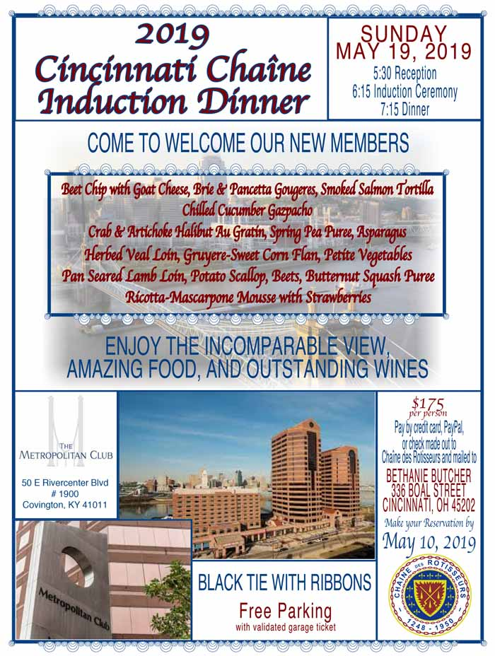 Induction Dinner 2019
