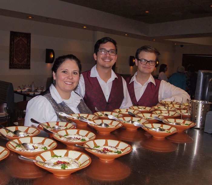 Phoenician Taverna servers