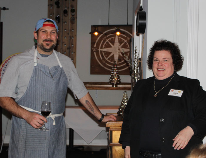Chef Bernstein and Vice Enchanson Provincial Mary Horn