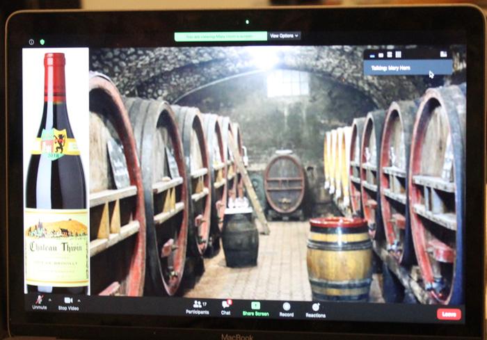 Chateau Thivin Côte de Brouilly barrels