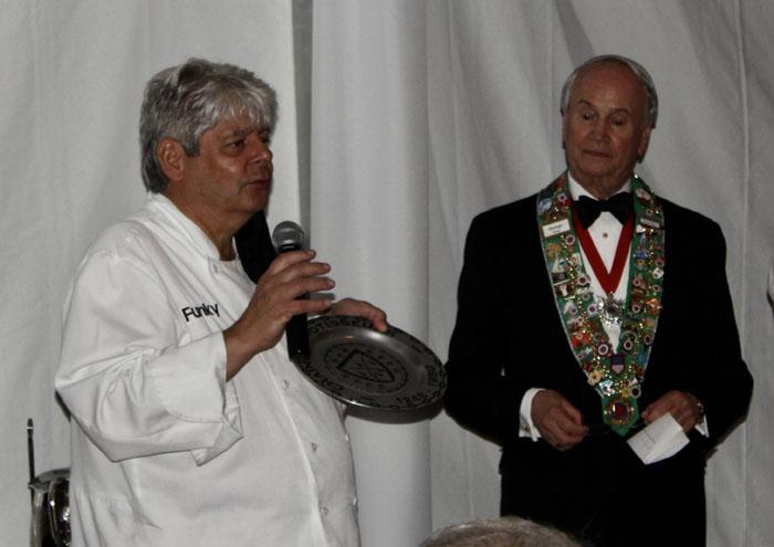 Chef Michael Forgus and Bailli George Elliott