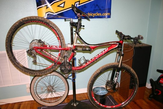This is our willing test subject. 2012 Specialized Stumpjumper FSR Comp 29