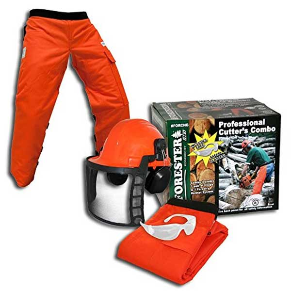 Forester OEM Arborist Forestry Professional Cutter's Combo Kit Chaps Helmet FORCHG Review