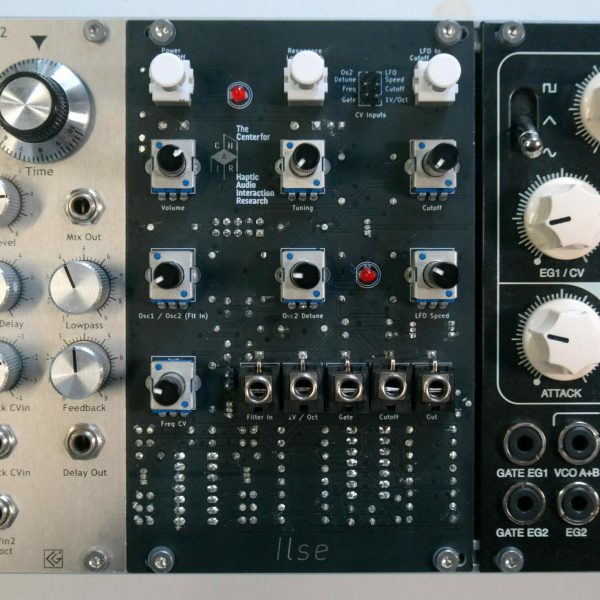 Ilse — A simple analog synthesizer module placed in a skiff