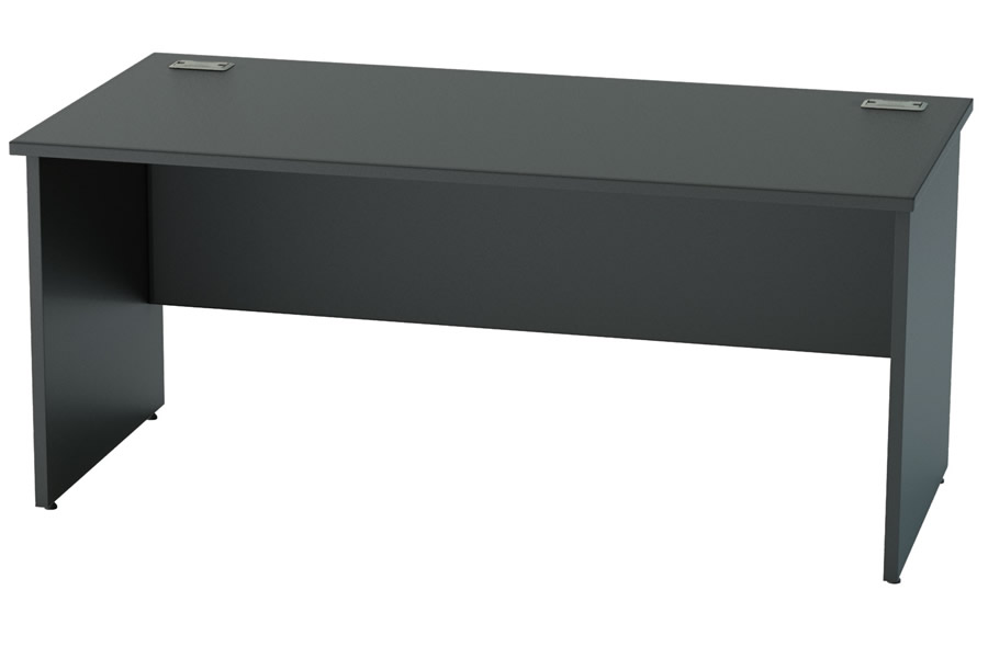 Nene Black Rectangular Panel Leg Desk