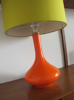 Orange Table Lamp By Holmegaard Denmark