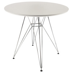 table ronde blanche eiffel