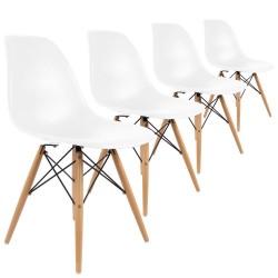 lot 4 chaises design dsw premium