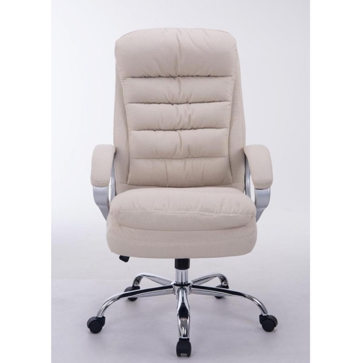 fauteuil de bureau cannes tissu grand rembourrage resistant jusqu a 160 kg blanc
