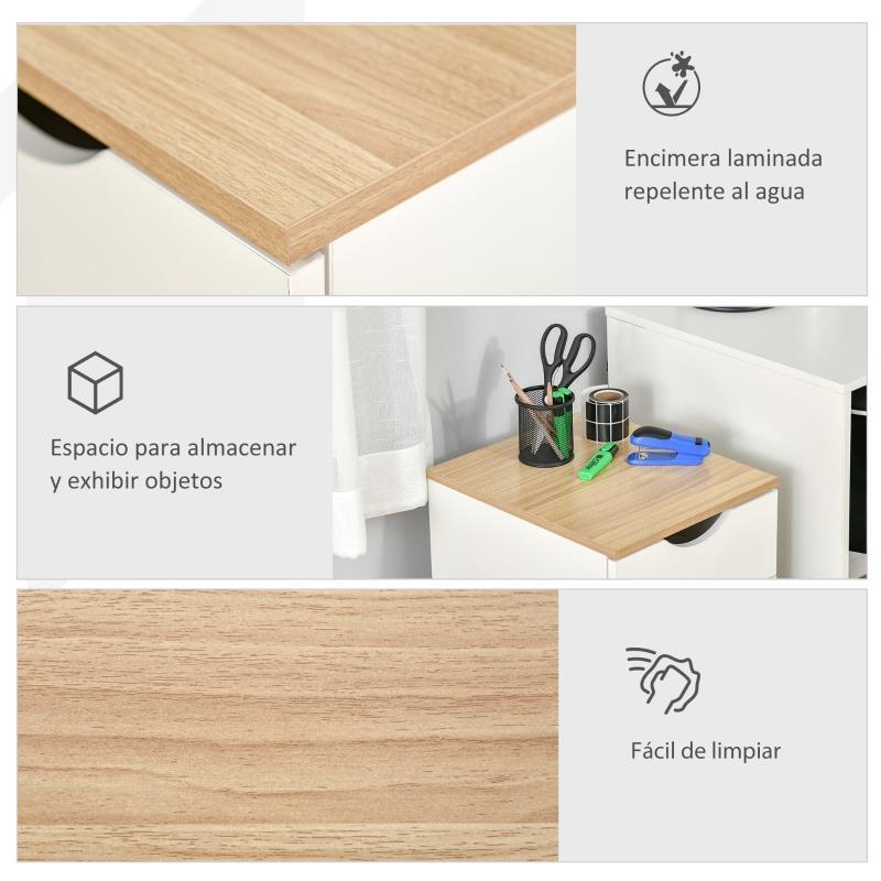 caisson mobile esben 3 tiroirs dimensions 40x35x60 cm blanc