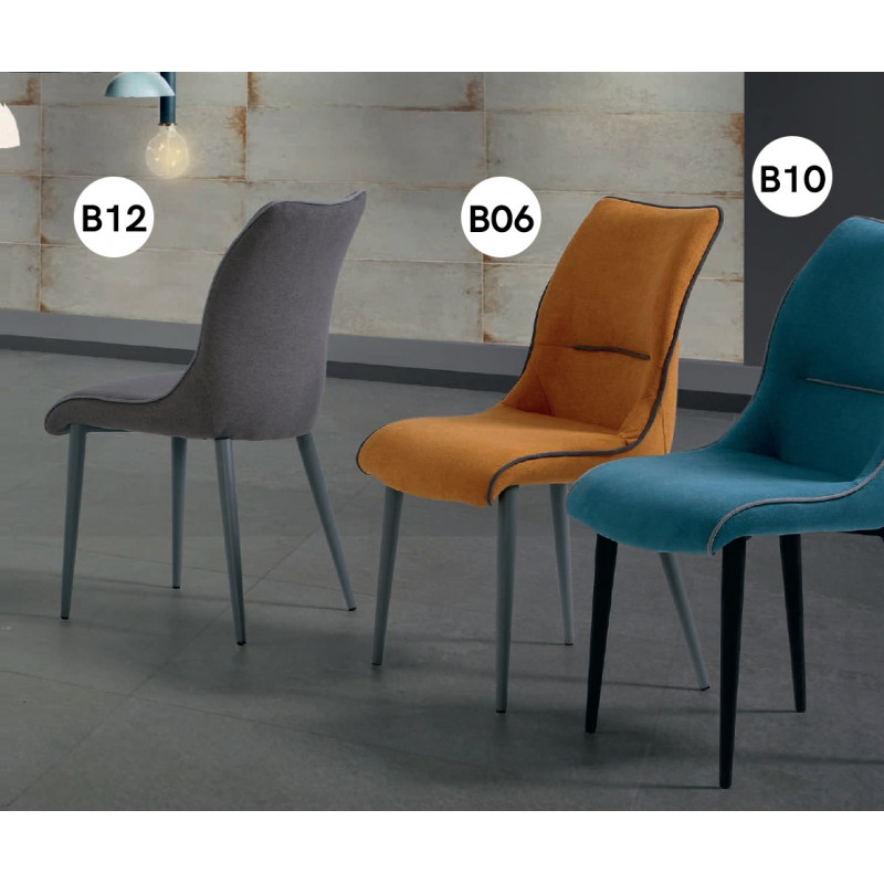 chaise contemporaine bea tissu