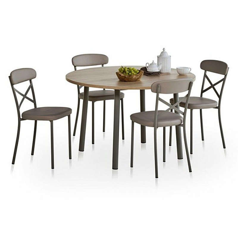 table extensible ronde lustra ht 75 cm