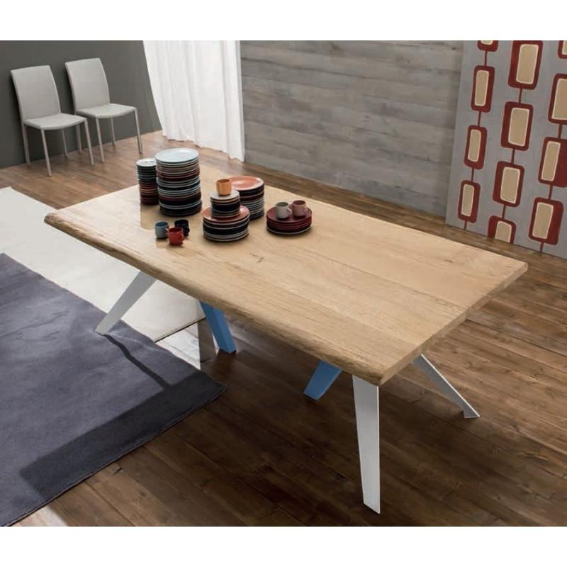 table de cuisine en bois ifly t1156