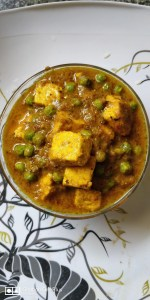 Veg Motor paneer without onion and garlic (in Bengali)